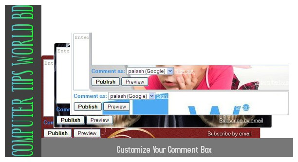 customize comment box