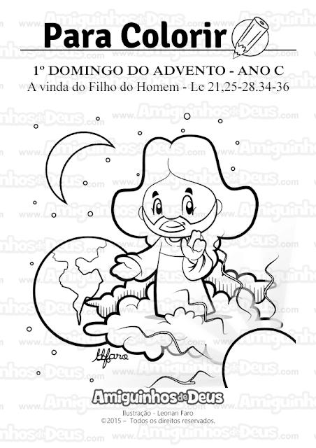 primeiro domingo do advento ano c desenho para colorir