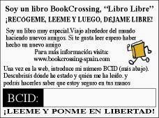 pegatina bookcrossing interior