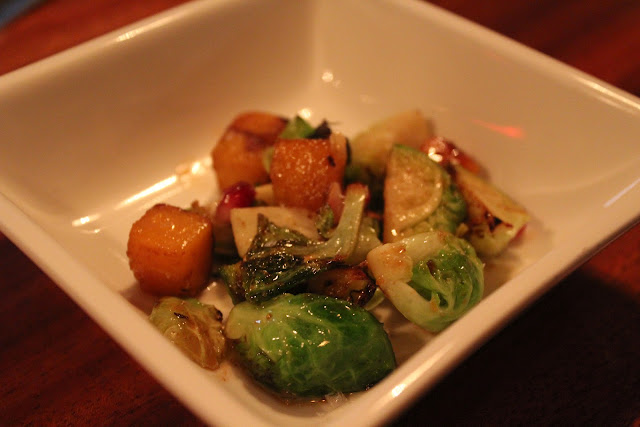 Roasted brussels sprouts and squash at Cava, Portsmouth, N.H.