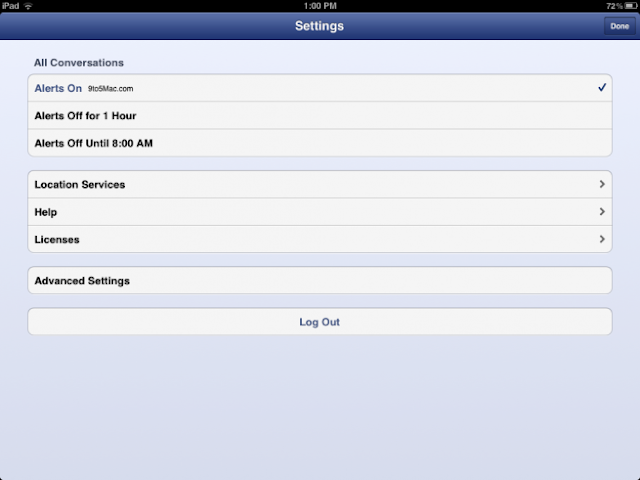 the new ipad 3 social app facebook