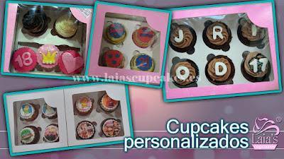 cupcakes personalizados de fondant impresión comestible Laia's Cupcakes Puerto Sagunto