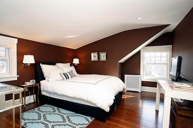brown bedroom floor, painting