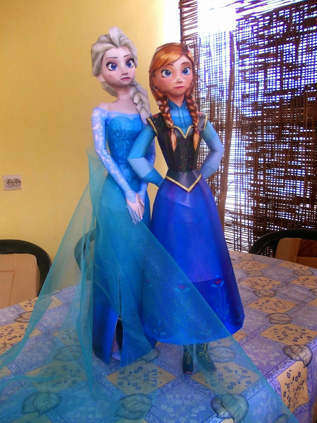 Sabi96 Papercraft Box Elsa The Snow Queen Frozen