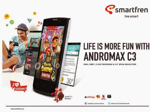 Product booming itu dari keluarga Andromax C, yaitu Andromax C3