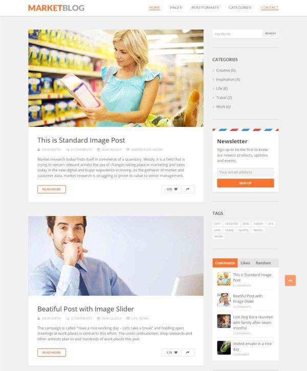 MarketBlog theme simple design