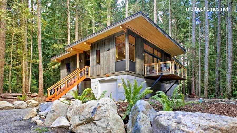 Cabaña contemporánea ecológica en Norteamérica
