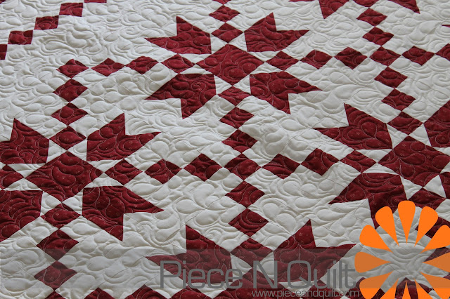 Piece n quilt red and white quilt for Red door design quilts