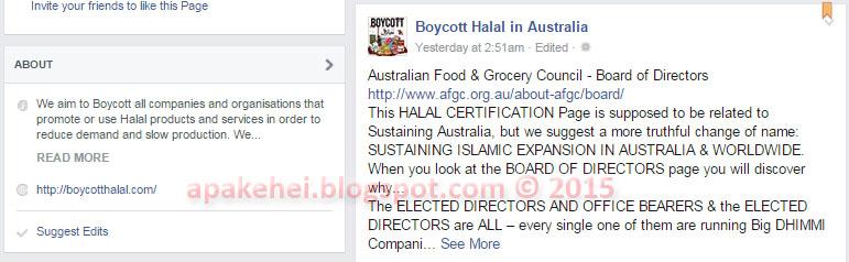 Boycott Halal in Australia