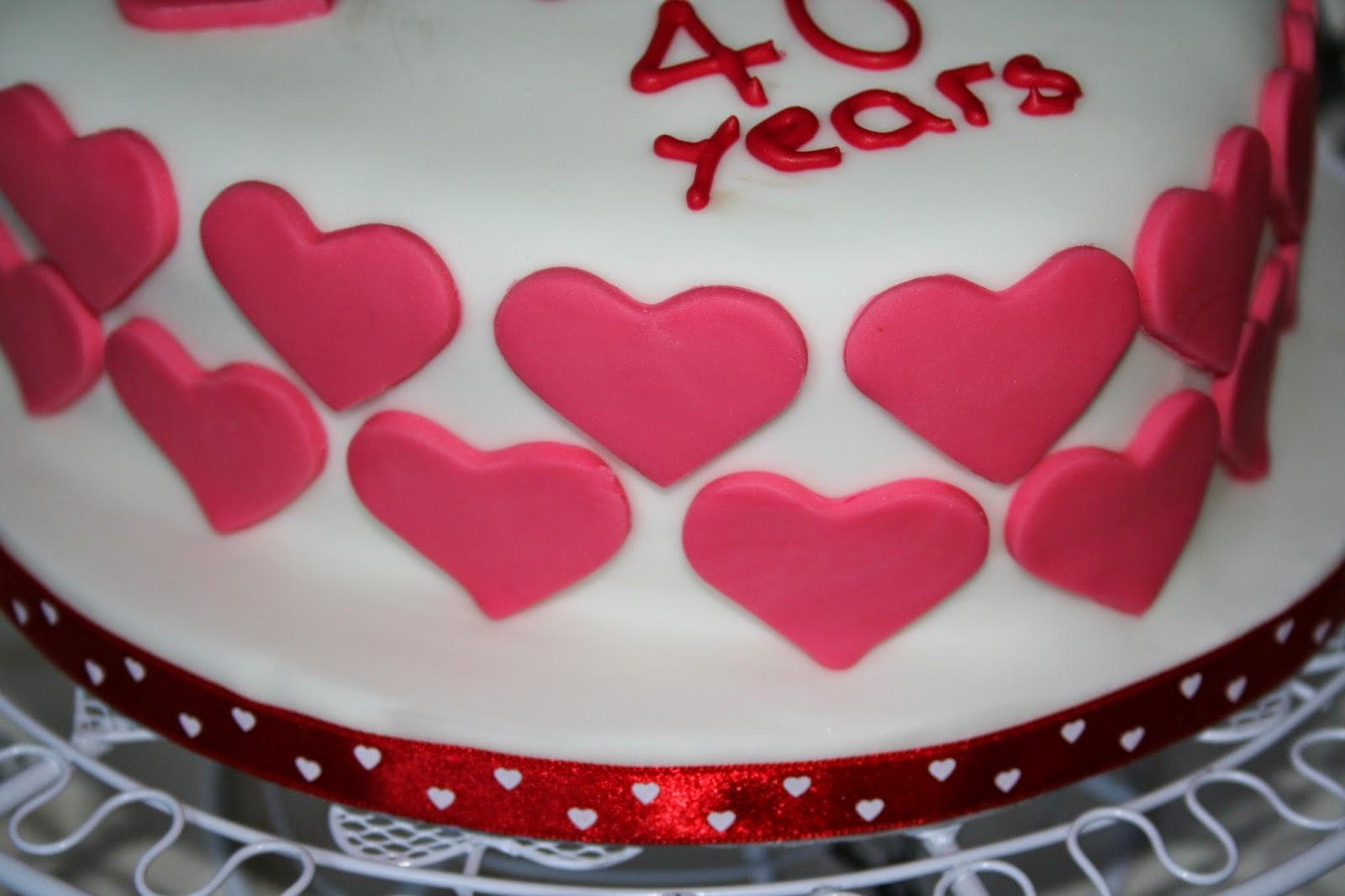 Chintzy cakes heart anniversary cake