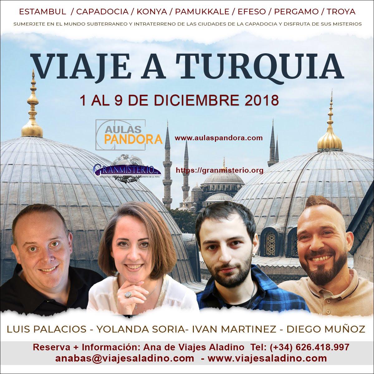 1 AL 9 DE DICIEMBRE 2018 – VIAJE A TURQUIA CON LUIS PALACIOS ,YOLANDA SORIA, IVAN MARTINEZ Y DIEGO