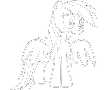 #12 Rainbow Dash Coloring Page