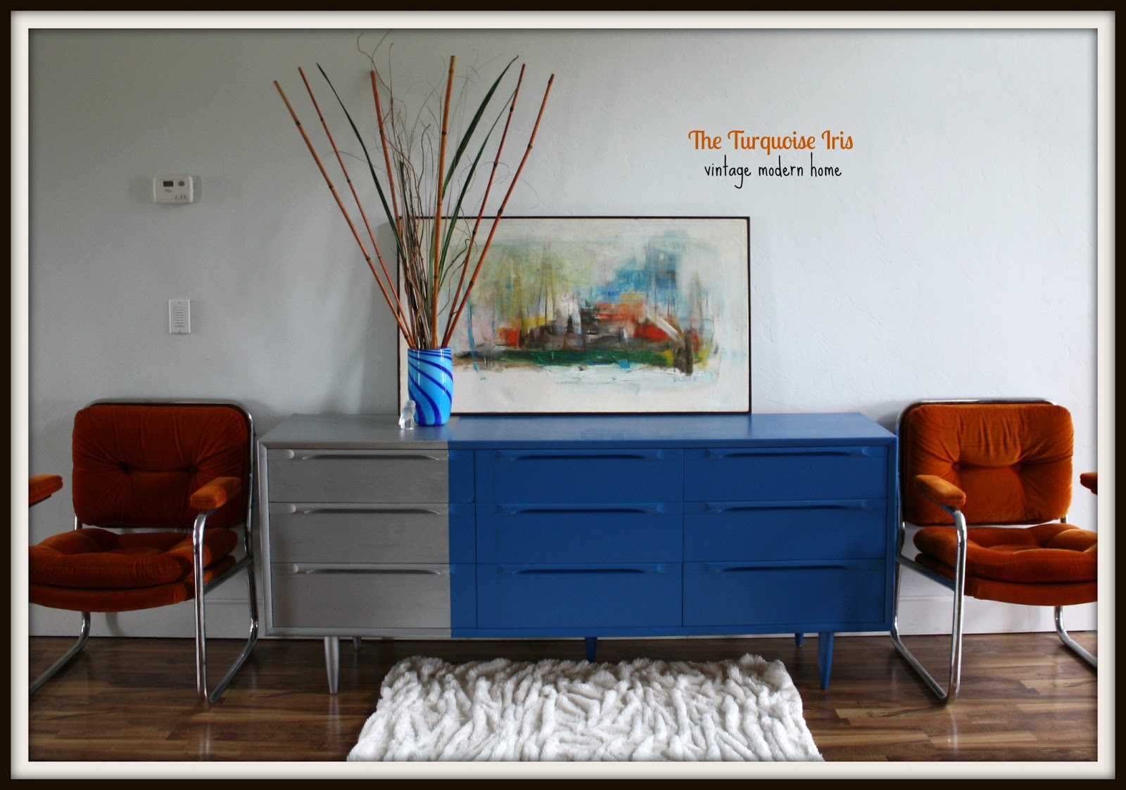 Mid Century Modern Dresser, Color Blocked And Cool