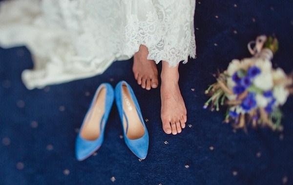 novias que decidieron llevar para el día B zapatos de color azul, un color, que como ya sabéis, está muy presente en la bodas por eso de llevar algo