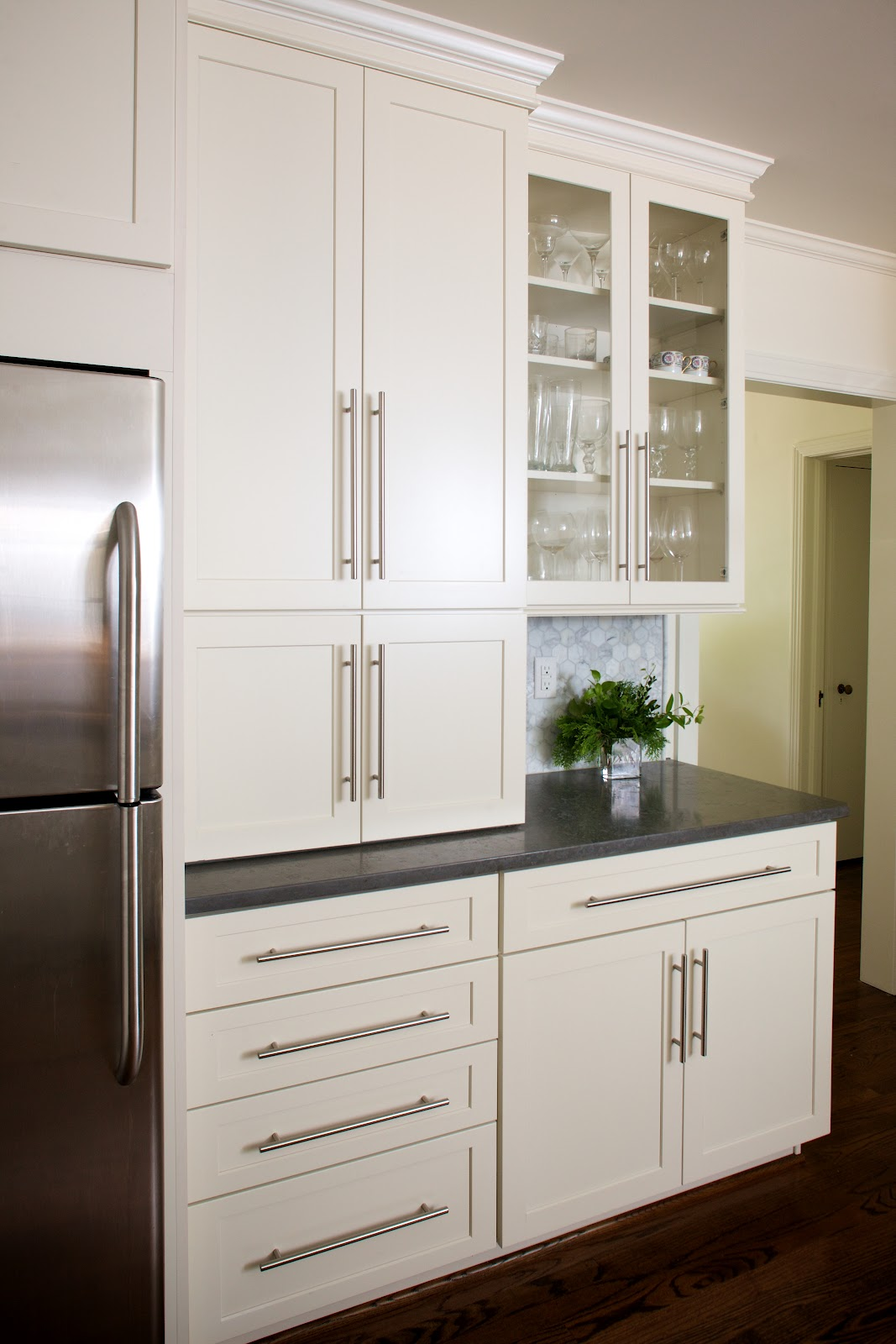 Haven and home client kitchen for Contemporary kitchen cabinet pulls