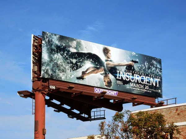 Divergent Insurgent film billboard
