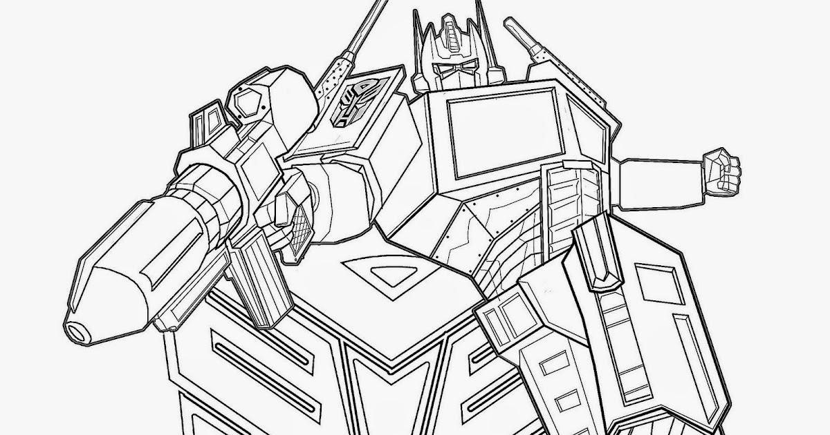 transformer optimus prime coloring pages - photo#29