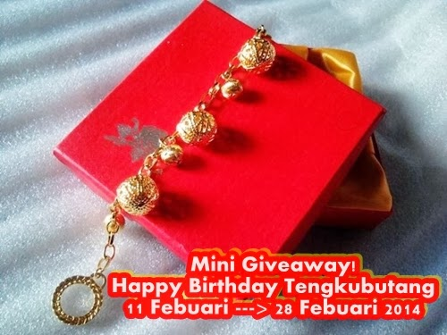 MINI GIVEAWAY HAPPY BIRTHDAY TENGKUBUTANG