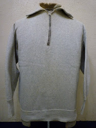 "30's ""HARROWER"" 襟付き HALF ZIP. SWEAT SHIRTS with 扇型TALON ZIP."