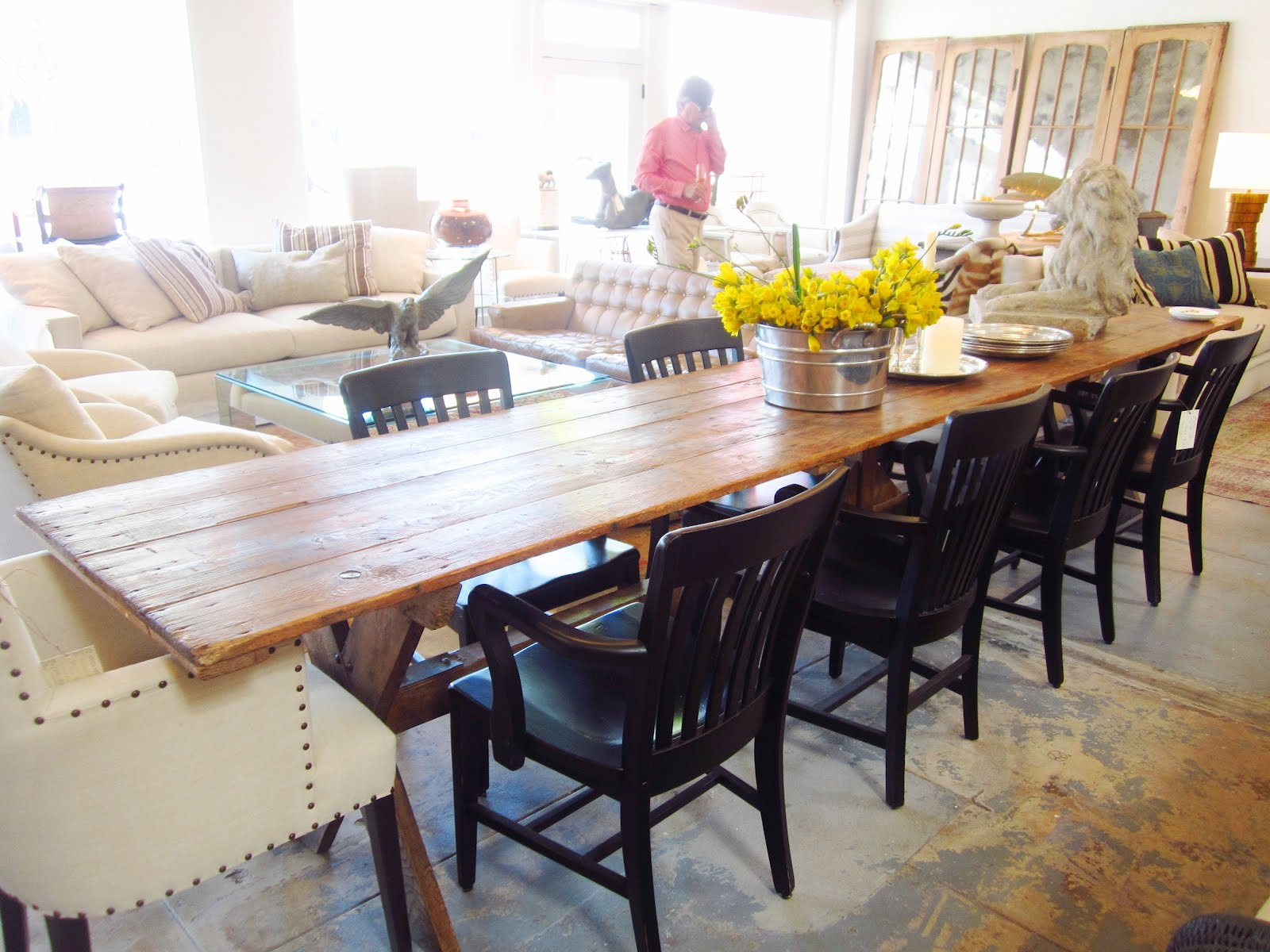 Mitchell co custom furniture f a q 39 s for Farmhouse dining room table set