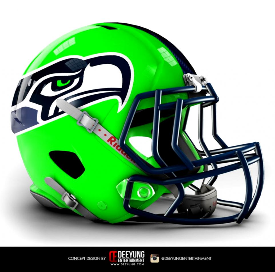 This proposed new Seattle Seahawks helmet will certainly catch