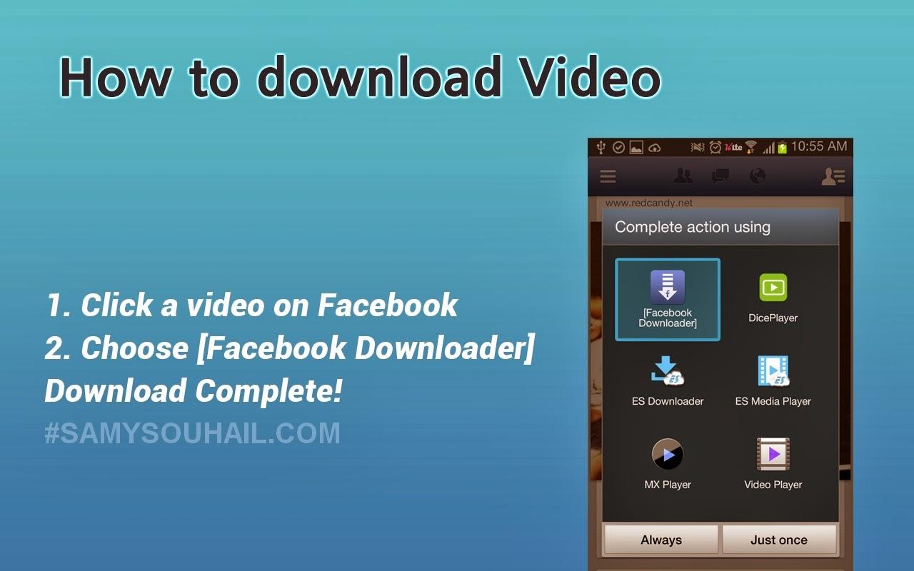 تطبيق Facebook Video Downloader لتحميل مقاطع الفيديو من الفيسبوك مجانا لهواتف أندرويد