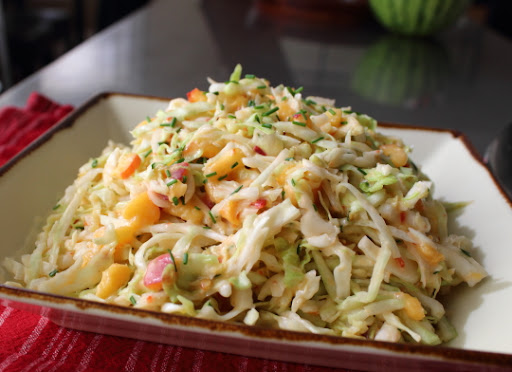 Spicy Peach Coleslaw – An Apple Is an Excellent Thing – Until You've Tried a Peach