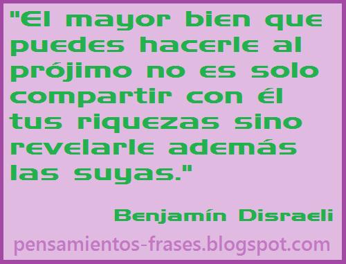 frases de Benjamín Disraeli