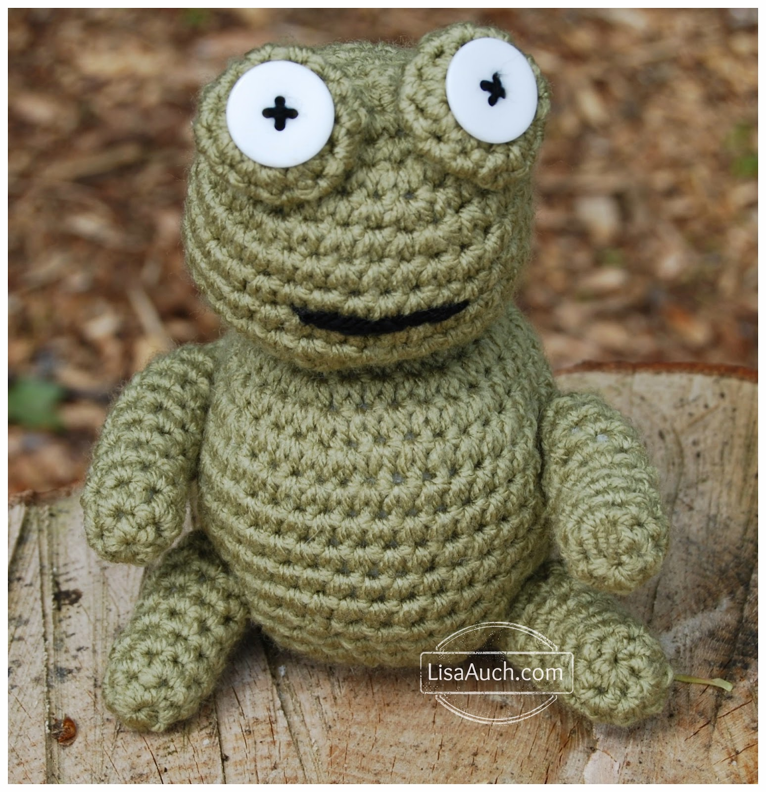 free amigurumi frog crochet pattern free crochet patterns and designs by lisaauch. Black Bedroom Furniture Sets. Home Design Ideas