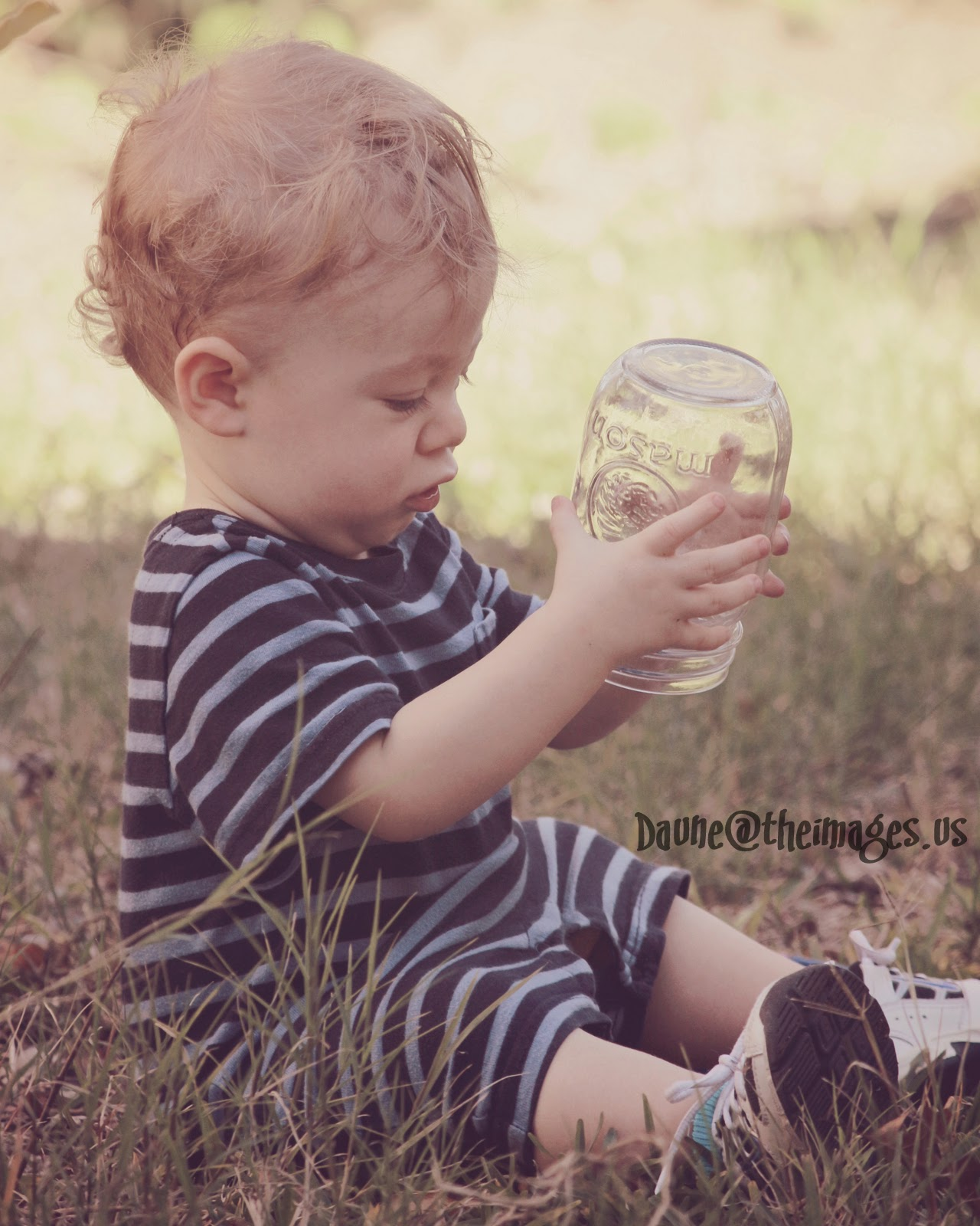little man with a jar