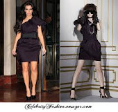 Kim Kardashian in Lanvin Dress H&M