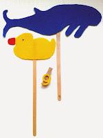 Marionetas de patito de goma y de ballena ©Selene Garrido Guil