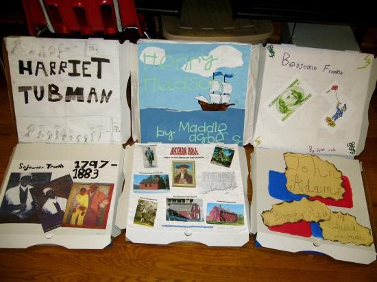 Book Cover Ideas Projects : Exploring social studies biography pizza box