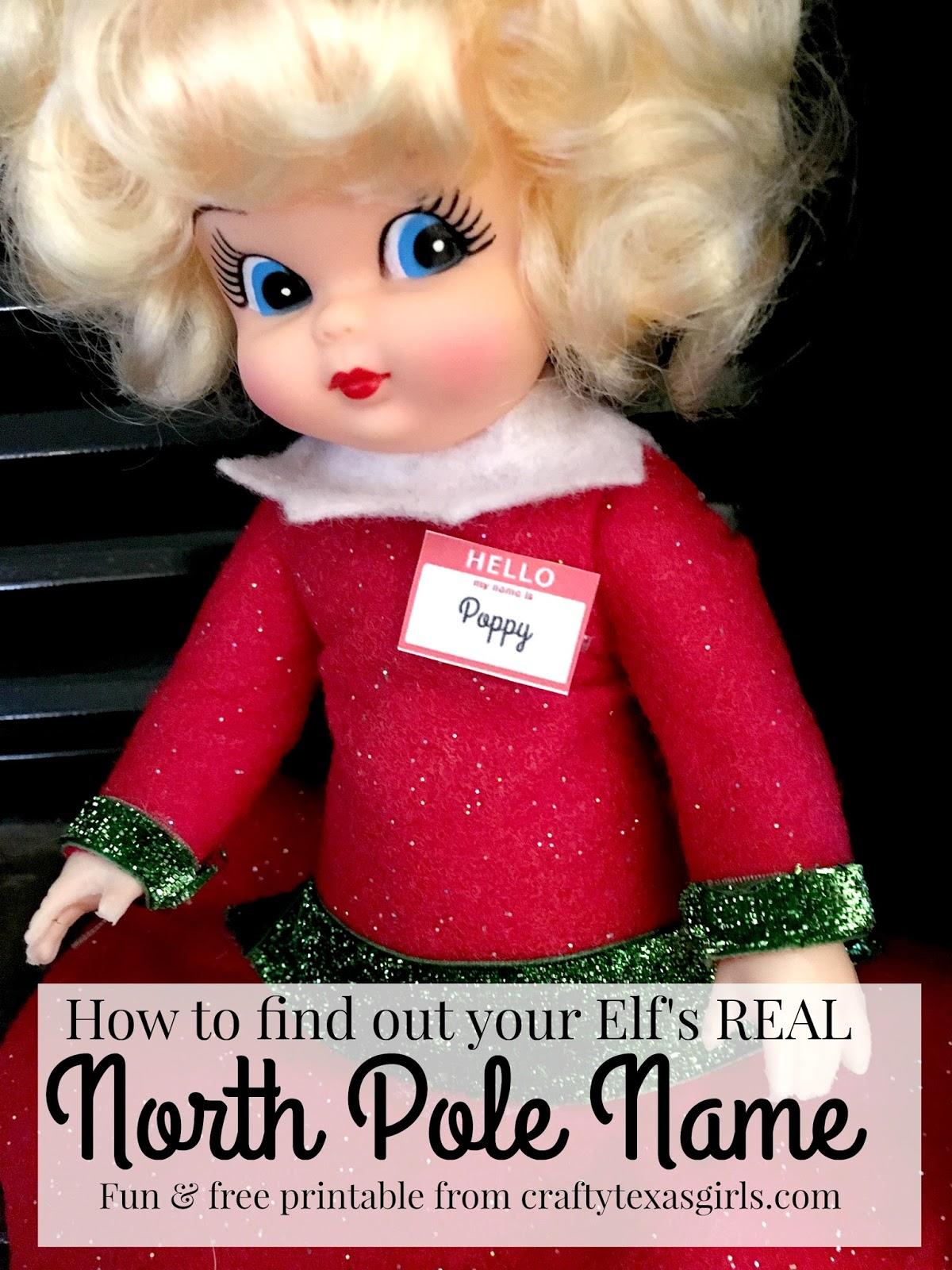 Crafty Texas Girls Elf on the Shelf Name Tags Free Printable
