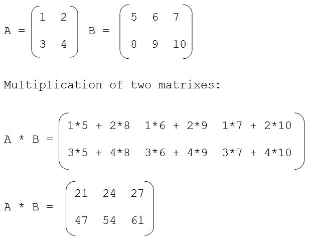 c programming multiplication of two matrices in c language ctechnotips. Black Bedroom Furniture Sets. Home Design Ideas