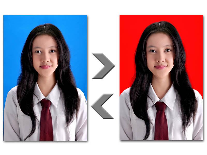 ... photoshop: Cara Cepat dan Mudah Mengganti Warna Background Pas Photo