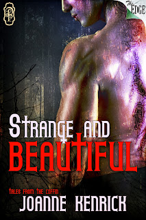 Strange and Beautiful is book ONE in the tales from the coffin series by JoAnne Kenrick with Decadent Publishing THe Edge series and is a collection of paranormal shorts in the style of tales from the crypt, red shoe diaries, and great expectations. Lucy Rot zombie and Estella vampire queen of the rejected are at your service for storytelling...and dinner.