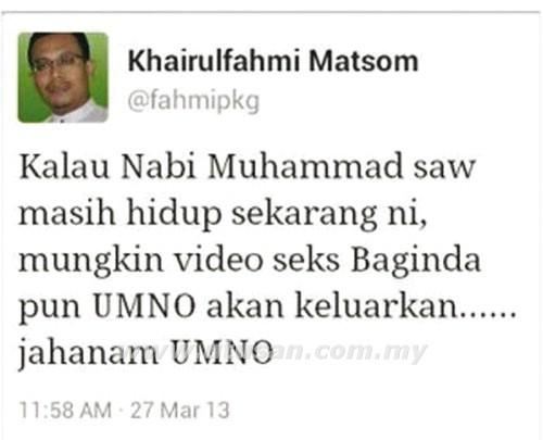 Kenyataan 'Video Seks Nabi' Di Twitter Perumpamaan Yang Disalah Tafsir - Mahfuz
