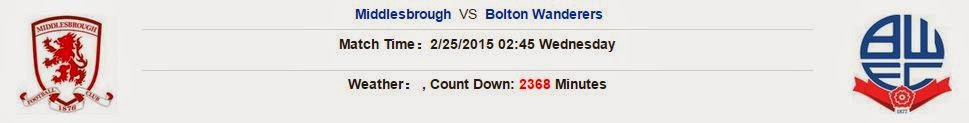 Middlesbrough vs Bolton Wanderers (Championship, 02h45 ngày 25/02)