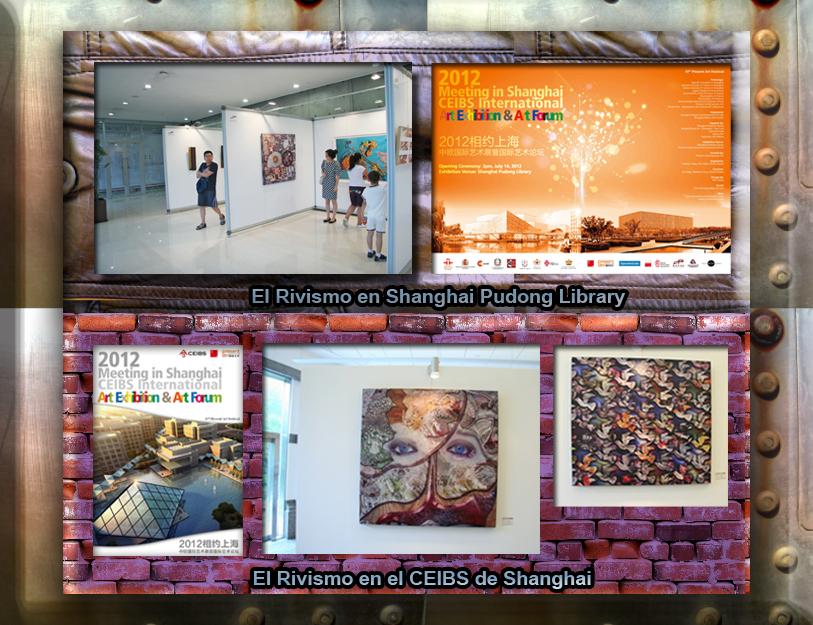 Rivismo+CEIBS+Shanghai Pudong Library. Ramón Rivas expone en China