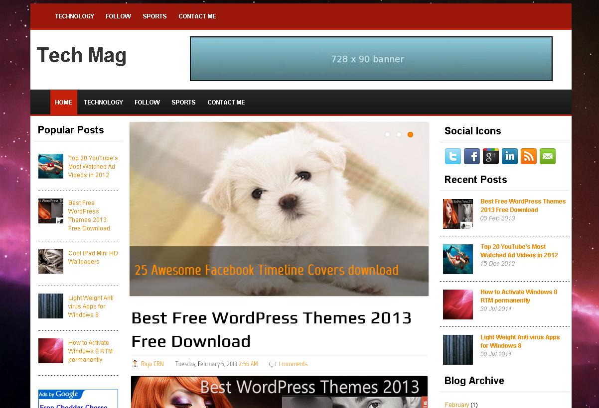 Tech Mag Blogger Template
