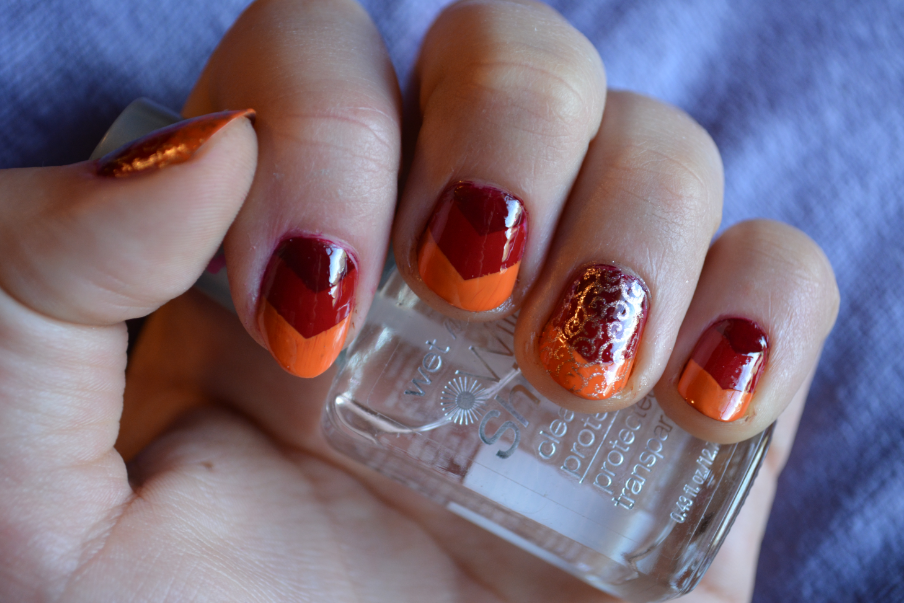 The Closet Historian: Fall Colors Chevron Nail Art