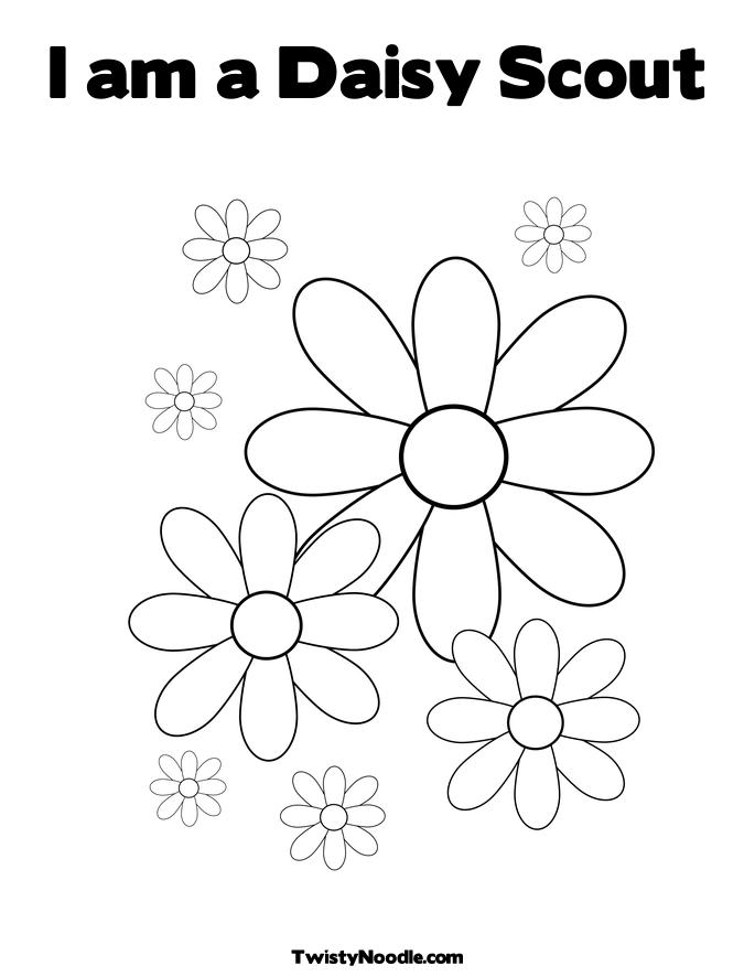 Girl Scout Daisy Coloring Pages Printable  Vosvetenet