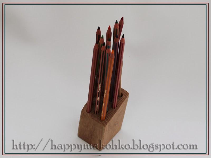 дубовая карандашница