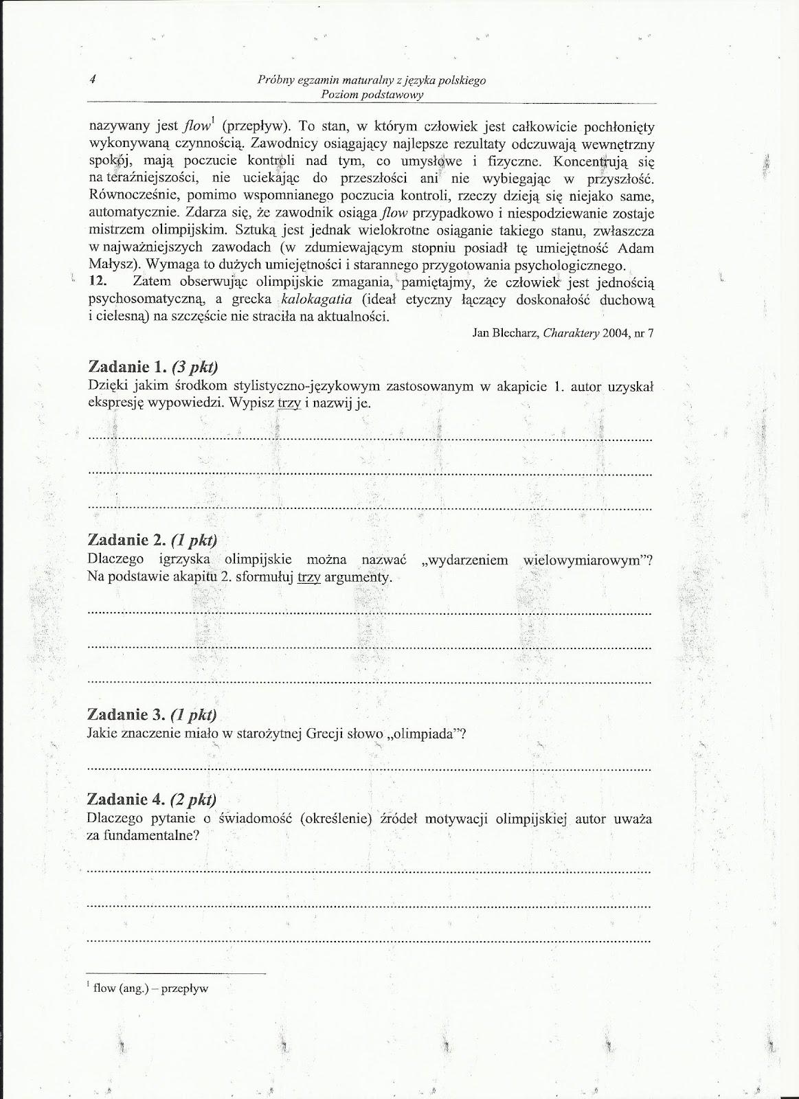 czytanie ze zrozumieniem klasa 8 pdf