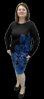 wyszczuplająca sukienka