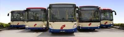 bus from Butterworth