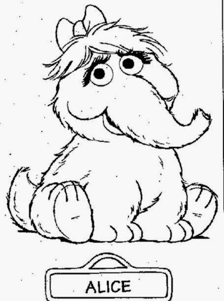 All Sesame Street Characters Coloring Pages