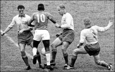 Pelé, 1958 en Rasunda, Suecia