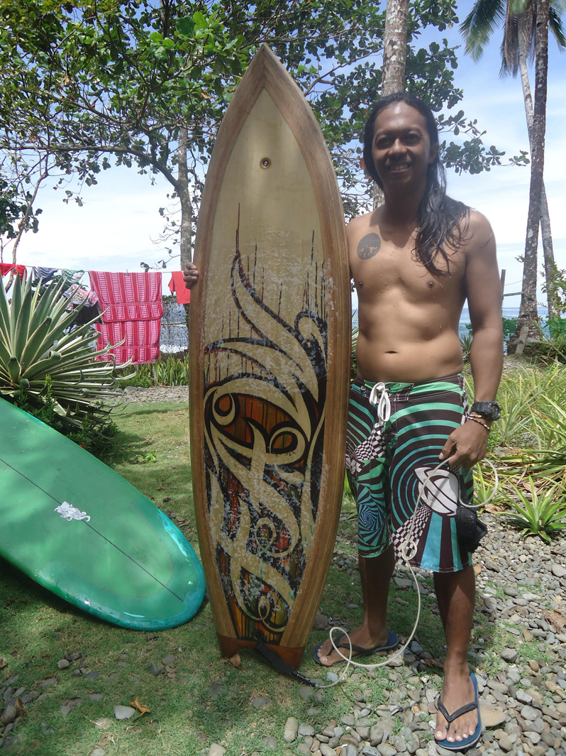 I asked Chris to send me some words to tell his story of building wooden boards in such a remote part of the world and how it all came about.